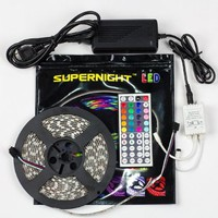 SUPERNIGHT (TM) 16.4ft 5M Waterproof Flexible strip 300leds Color Changing RGB SMD5050 LED Light Strip Kit RGB 5M +44Key Remote+12V 5A Power Supply:Amazon:Home Improvement