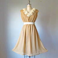 Dress / Bridesmaid / Romantic / Tan / Dreamy by AtelierSignature