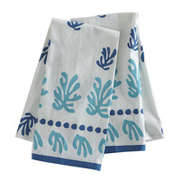 Seascape Hand Towels - Blue - Set of 2