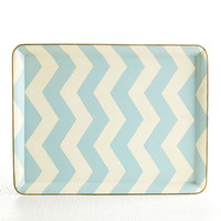 Blue Chevron Tray