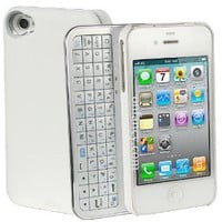Sliding White Bluetooth Keyboard Iphone 4/4s Case