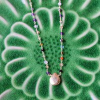 wildflower fields stone indie necklace - $48.99 : ShopRuche.com, Vintage Inspired Clothing, Affordable Clothes, Eco friendly Fashion
