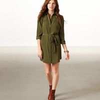 AE Studded Shirt Dress | American Eagle Outfitters