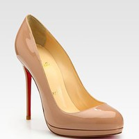 Christian Louboutin - Patent Leather Platform Pumps - Saks.com
