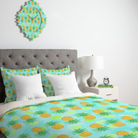 DENY Designs Home Accessories | Lisa Argyropoulos Pineapples And Polka Dots Duvet Cover