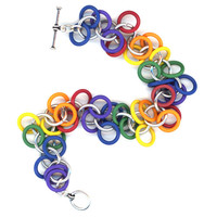 Shaggy Loops Bracelet Rainbow Chakra LGBT Floppy Soft Rings