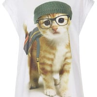 Backpack Cat Tee - New In This Week - New In - Topshop USA