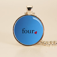 DIVERGENT Four Tobias Divergent Charm Necklace by TheWhiteSpace