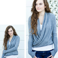 Dimgray Wrap Cardigan [2625] - $36.00 : Vintage Inspired Clothing & Affordable Summer Frocks, deloom | Modern. Vintage. Crafted.