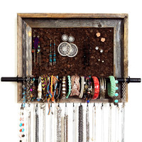 9x12 Custom Barn Wood Jewelry Display Organizer