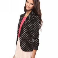 Diamond Pattern Blazer