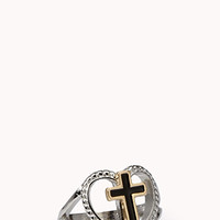 Heart Cutout Cross Ring