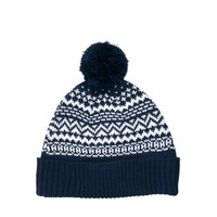 ASOS | ASOS Bobble Beanie In Jacquard Pattern. at ASOS
