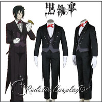 Black Butler Sebastian Michaelis Cosplay Costume - Custom Made in Any size