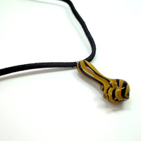 Glass Pipe, Pipe Bead Necklace, Hand Blown Glass Pipe Bead, Made by Ed DuBick, Boro Ballers, CGGE Team, READY to SHIP