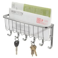 InterDesign York Lyra Wall Mount Mail and Key Rack, Chrome:Amazon:Home & Kitchen