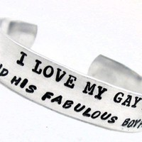 Bracelet - I Love My Gay Son (and his fabulous boyfriend) | foxwise - Jewelry on ArtFire