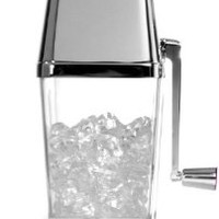 Metrokane Retro Ice Crusher, Clear with Chrome