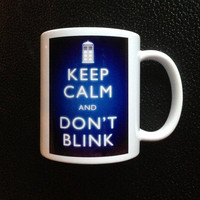 Keep Calm Dr. Who Weeping Angel style Mug