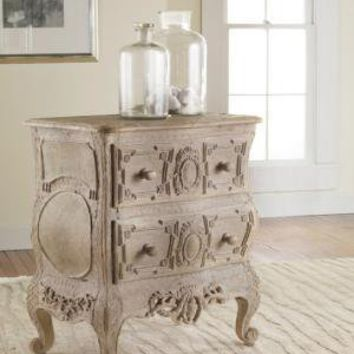 Carved French Bow Nightchest