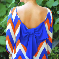 I Love You So Chevron Top: Blue/Orange | Hope's