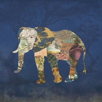 The Memories of an Elephant Art Print by Paula Belle Flores