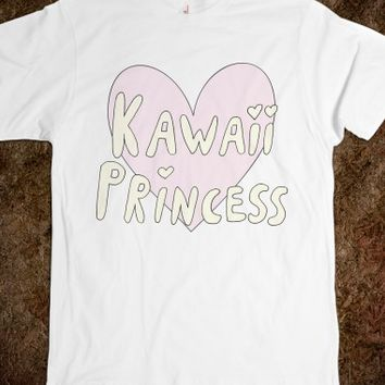 Kawaii Princess-Unisex White T-Shirt