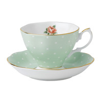 Royal Albert Polka Rose Teacup/Saucer Set