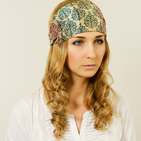 by (Oleel) Girl Headband Wide Headband Hairband Adult Headband Chic Tribal Ornate