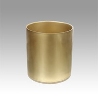 TOLITA USA - Perspex Waste Basket Gold, Bathroom Accesories