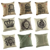 "Cushion Cover Pillow Case New 2013 Fashion 1 PC Cotton 18"" Decoration Decor C10"
