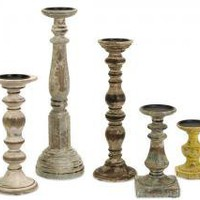 Cain Candleholders - Set of 5