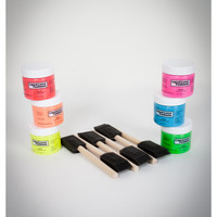 Black Light Latex Body Paint Kit
