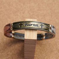 Fear Not Bracelet ,For I AM With You Metal Bracelet