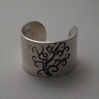 Sterling Silver Tree of Life Ear Cuff by BereniceDesigns on Etsy