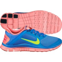Nike Women's Free Run 4.0 Running Shoe - Blue/Pink | DICK'S Sporting Goods