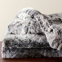 Faux Fur Throw - Gray