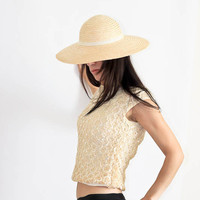 Crochet Lace Sequin Sleeveless Knit Blouse by SalvatoCollection