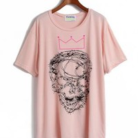 Skull & Crown Painted T Shirt