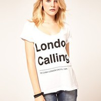 Amplified | Amplified London Calling Scoop Neck T-Shirt at ASOS
