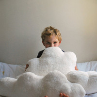 White Fluffy Cloud Pillows - Set of 3