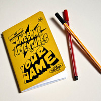 Personalised Journal of Awesomeness by purplecactusdesign on Etsy