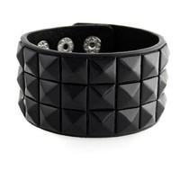 New Triple and Double Studded Punk Rock Wristband Bracelets (Lots of Colors):Amazon:Clothing