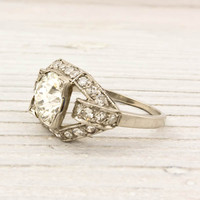 1.56 Carat Old European Cut Vintage Diamond Engagement Ring | Shop | Erstwhile Jewelry Co.
