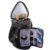 Picnic Time Meritage Insulated Triangular Wine and Cheese Tote