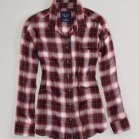 AE Plaid Girlfriend Shirt | American Eagle Outfitters