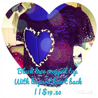 Lace heart back crop top  by AngeliqueMerici on Etsy
