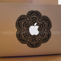 Flower-decal macbook Macbook Decal Pro/Air Sticker Handmade Skin Partial Protector MacBook decal MacBook pro sticker13126