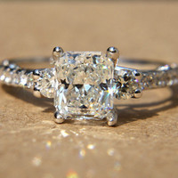 190 carats  RADIANT cut Diamond Engagement Ring  by BeautifulPetra