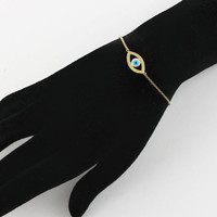 Vermeil Evil Eye Bracelet